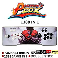 Arcade Video Game Console, Pandora's Box 6s, 1388 in 1 Retro Video Games Double Stick Arcade Console, HDMI VGA USB Newest System Arcade Machine