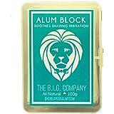 La B.I.G. empresa bloque–3.52oz incluye funda de almacenamiento–Calmante Loción Para Después De Alumbre Astringente para cerrar los poros y ayudar a detener la hemorragia de cortes y arañazos.