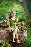 Dekofigur Elfe Fee Kantenhocker Figur Garten Dekoration Gartenfigur ca. 26cm NEU