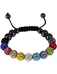 Bracelet Shamballa disponible en plusieurs couleurs
