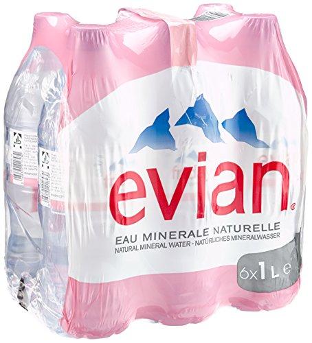Evian Pet, 6er Pack, Einweg (6 x 1 l) (Wasser Evian)