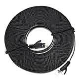 hillrong Aurum Kabel Flach CAT6Snagless Netzwerk Ethernet Patchkabel Schwarz 5 Meter