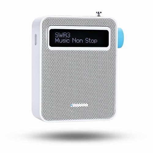 BLAUPUNKT PDB 100 WH  Blaupunkt Steckdosenradio PDB 100 DAB+|Digital Radio und UKW Radio mit RDS | Bluetooth| USB Ladestecker | 30 Senderspeicher| |Teleskopantenne Weiß