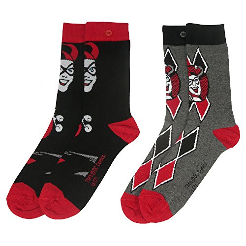 Suicide Squad y1h414–Harley Quinn 2Pack Damen Socken (Größe 4–7) One (Harley Zeichen Quinn)