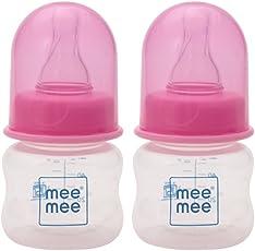 Mee Mee Premium Baby Feeding Bottle, 60ml, Pink (Pack of 2)
