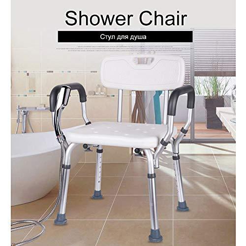 Tragbare Toilette Stühle (HJJKERLCBP Toilettensitz Stuhl Ältere Bad Dusche Falten Tragbare Toilette Stühle Duschstuhl Ältere Sitz Kommode für 200 kg Bad Stuhl)