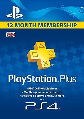 PlayStation Plus 12 Month Membership [PSN Download Code - UK