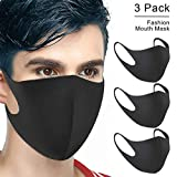 Mouth Mask, Cotton Soft Half Face Mask, Biker Mask, Dust Protection Mask, Fashion Kawaii Cool Bear Panda Mask for Men and Women (3 Pack)