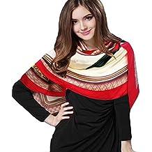 iEverest luxe Foulards en soie de mûrier soie longue et écharpe carrée et  foulard en soie f31bb18687b