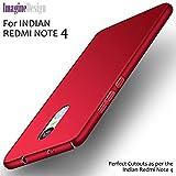 WOW Imagine Sleek Rubberised Matte Hard Case Back Cover For Xiaomi Mi Redmi Note 4 - Maroon Wine Red