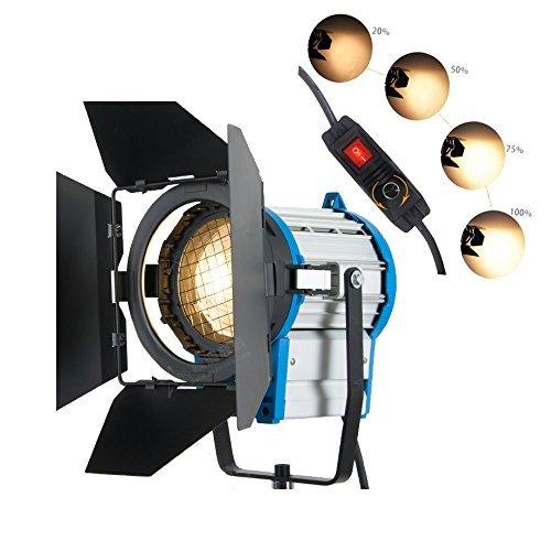 HWASTUDIO ® 1000W Professional Fresnel Tungsten Video Dauerlicht als ARRI Pro Video Spot-Licht (Arri Dimmer)