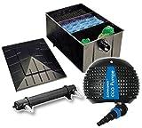 Teichfilteranlage XL Teichfilter 220 L + Teichpumpe 4500 + UVC 55 Watt Teichfilter