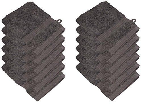 starlabels Serviettes Disponible en 15 couleurs et 5 dimensions doux saugstark 500 g/m², 100% coton, Öko Tex, Coton, gris, 15 cm x 21 cm
