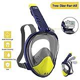 WOTEK Tauchmaske Vollgesichtsmaske Schnorchelmaske Vollmaske Tauchermaske für Kinder und Erwachsene-Snorkel Mask Full face mit 180 Grad Blickfeld