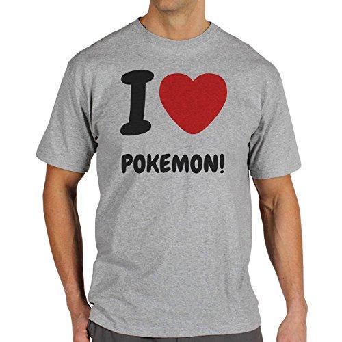I Love Pokemon Go Quality Herren T-Shirt Grau
