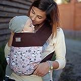 Mei Tai portabebés ergonómico  Love&Carry Mocha  De 2 m hasta 15 kg  3 posiciones  Algodón 100%...