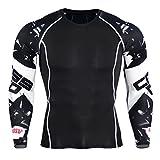 YiJee Herren Sport T-Shirts Schnelltrocknend Lange Ärmel Fitness Kompressionsshirt Funktionswäsche Base Layer ALS Bild4 4XL