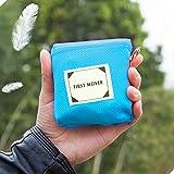 QY&LA 1pc Tragbare Wasserdichte Tasche Decke, Camping mat, Picknick im Freien, Beach, Wandern, Camping. Eingebauten Boden einsätze-Blau 150x180cm(59x71inch)