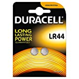 Duracell Specialty Type LR44 Alkaline Coin Battery, Pack of 2