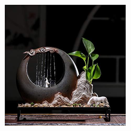 SFXYJ Moderne Art Zimmerbrunnen Feng Shui-Verzierungen, groß für Hauptverzierung, idealen Geburtstag, Jahrestag oder Hochzeitsgeschenk,A