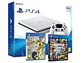 Playstation 4 PS4 Slim Console 500Go Blanche - TRIPLE AAA PACK - FIFA 17 + GTA V