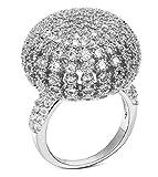 18k Vergoldet Ringe, Damen Hochzeit Bands Verlobung Weiß mit Zirkon Bell Cut Gr.51(16.2) Epinki