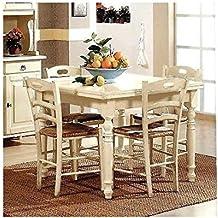 Mesa madera 130x 85extensible Antiguo Blanco–marfil–Varios colores–como fotos blanco y marfil