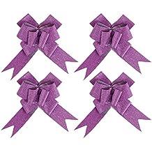kraftz®–30mm rosa metálico con purpurina mariposa lazos para fiestas boda decoración del coche de regalo (Pack de 10)