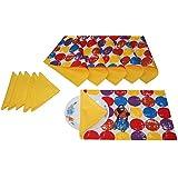 LushomesReversible Impreso manteles con servilletas de algodón linos de tabla Conjunto de 12
