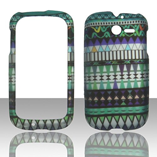 2d-tribal-blue-huawei-ascend-y-m866-tracfone-uscellular-case-cover-hard-phone-case-snap-on-cover-rub