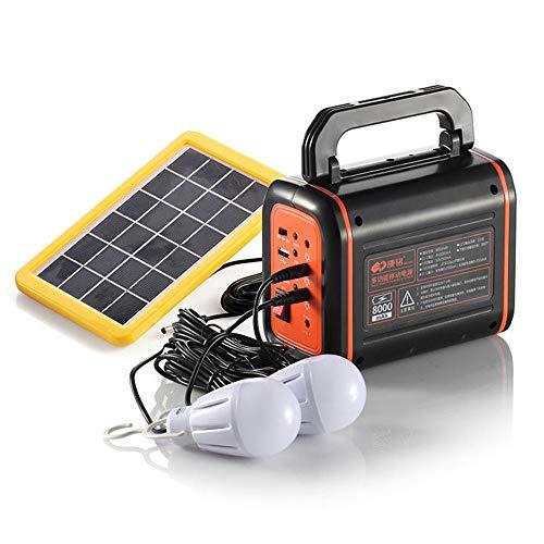 Fuente de alimentación de emergencia: disfrute de sus momentos al aire libreEs un generador de energía solar / generador de energía solar multipropósito, compacto, portátil y sin gas, que integra un paquete de baterías portátil exterior y un UPS en l...
