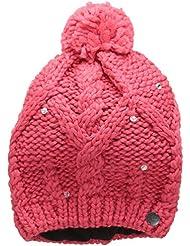Roxy Nola Beanie - Gorro con pompón para niña, color rosa, talla única