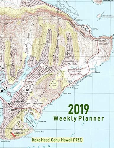 2019 Weekly Planner: Koko Head, Oahu, Hawaii (1952): Vintage Topo Map Cover