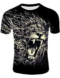 25a278980 GNAXY Camiseta Hombre Manga Corta Estampado
