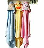 #1: Brandonn Premium Hooded Blanket Cum Wrapping Sheet for Babies (Multicolor, 3 Pieces, 27inchx30inch)