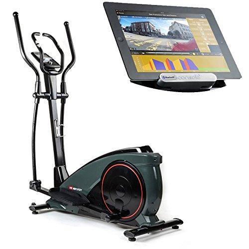 Hop-Sport Crosstrainer HS-060C Ergometer Elliptical Heimtrainer mit Bluetooth Smartphone Steuerung