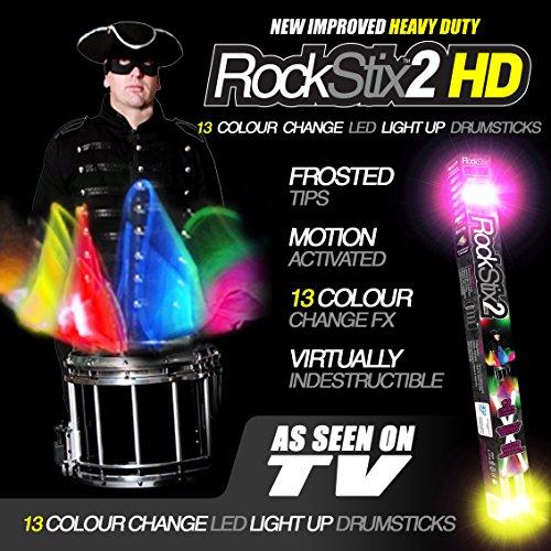 drumsticks led ROCKSTIX 2 PRO - FARBWECHSEL LED LEUCHTEN TROMMELSTOCK
