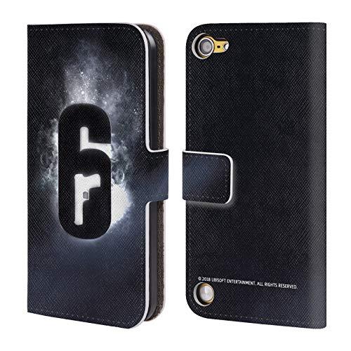 Head Case Designs Offizielle Tom Clancy's Rainbow Six Siege Gluehen Logo Leder Brieftaschen Huelle kompatibel mit Touch 5th Gen/Touch 6th Gen Sieg Ipod
