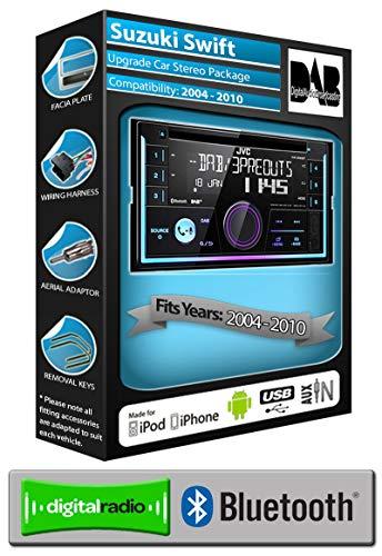 Suzuki Swift DAB Radio, Clarion Stereo Bluetooth Kit mit AUX USB Smartphone - Bluetooth Clarion Stereo
