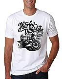 LuckyTshirt Retro Harley T Shirt Davidson Biker Mens Bike Motorcycle M Motorbike Logo Juko Tee Xxl Quinn - L