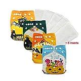 verstellbar Positionierung Druck Unisex Baby Cloth Pocket-Windeln mit weichem Wildleder Innen Einsatz