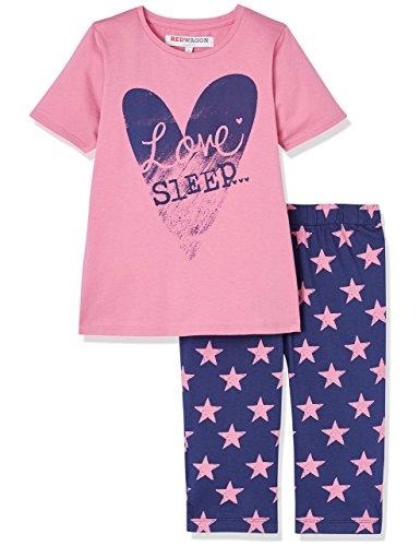 weiteiliger Schlafanzug, Rosa, Rosa (Pink), 146 (Herstellergröße: 11 Jahre) (Mädchen Red Schlafanzug)