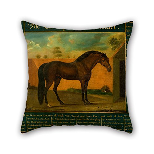 beautifulseason Christmas Pillow Shams 18 X 18 Inches/45 by 45 cm(Double Sides) Nice Choice for Adults Office Lounge Gril Friend Home Car Seat Oil Painting Daniel Quigley - The Godolphin Arabian - King-size-polyester-kissen-sham
