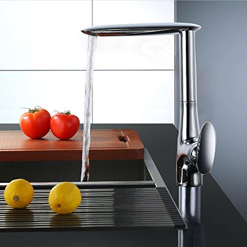 Homelody - Seltene Design-Küchenarmatur, 360° drehbar, Chrom
