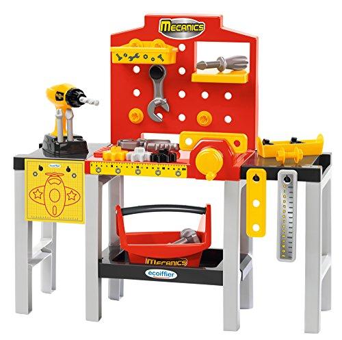 Jouets Ecoiffier - 2350 - Ensemble Établi modulable + outils pour enfants Mecanics - Jeu de bricolage - 32 pièces - Dès 18 mois - Fabriqué en France