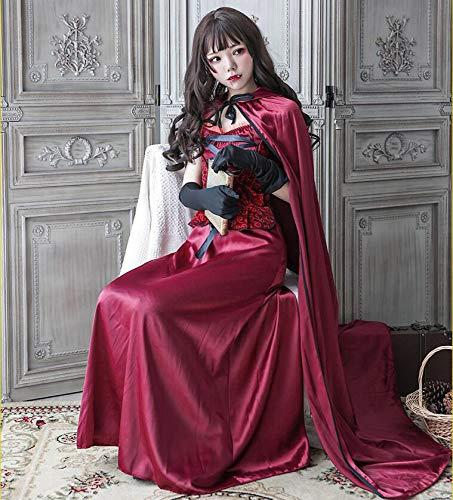 Adegk Halloween Party Rollenspiel Kostüm Rotkäppchen Hoodies Robe Kostüm Für Damen Party Nightclub Queen Kostüm,XL