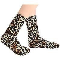 LHWY Moda para mujer Señoras calcetines de leopardo cálidos Medias medias de tubo de deporte de estilo vintage