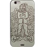 Inkad Apple iPhone 6 / 6s Pure Maple Wood in Dude on Hoverboard Laser Engraved on Mobile Case Cover (Silver)