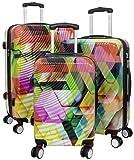 Kofferset Gepäckset Polycarbonat ABS Hartschalen Koffer 3tlg. Set Trolley Reisekoffer Reisetrolley Handgepäck Boardcase PM (Tiflis)