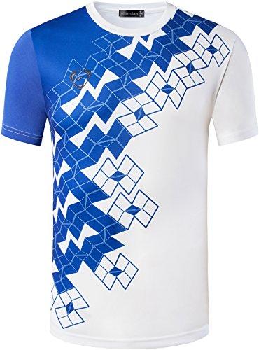 Jeansian Uomo Asciugatura Rapida Sportivo Casuale Slim Sports Fashion Tee T-Shirts Camicie LSL111 White